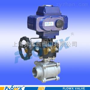 FP2000-23E3进口气动球阀带手动装置