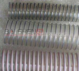 百盛PU钢丝透明软管,输药管,输料管