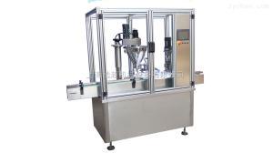 HCFGX-50浩超廠家直銷 全自動粉劑灌裝壓塞旋軋蓋機