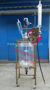 50L-100L特氟龙变频双显双层玻璃反应釜50L-100L