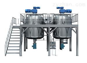 GDZRJ-500L底部均质真空乳化成套设备