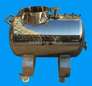 不銹鋼臥式移動蒸餾水儲罐