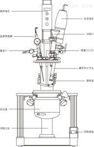 YK-5L上海约迪真空均质乳化机,真空玻璃反应釜