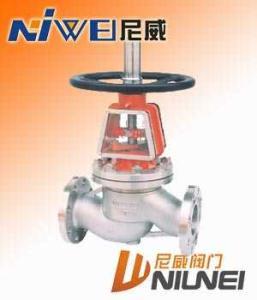 截止阀:YJ41W不锈钢氧气截止阀