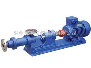 威王水泵厂家批发价格I-1B型不锈钢单螺杆浓浆泵