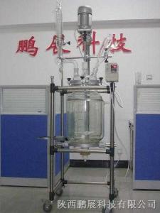 SF-50D雙層(50L)玻璃反應釜|夾套型高低溫反應釜