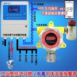 壁掛式甲醇泄漏報警器,可燃氣體泄漏報警器與防爆電磁閥門怎么連接