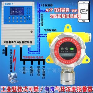 化工廠車間丙烯酸氣體報警器,可燃氣體報警器能聯動電磁閥或啟動排風扇嗎