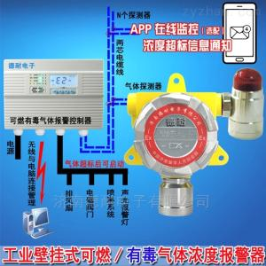 化工厂车间臭氧检测报警器,毒性气体报警仪与消防喷淋设备连接