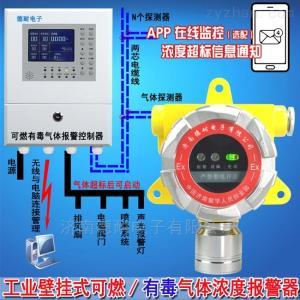 壓縮機房氨水泄漏報警器,可燃性氣體報警器可以檢測出氣體