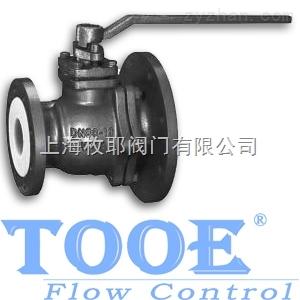 FQ41F進口襯氟放料球閥FQ41F