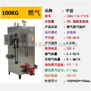LSS-0.10-0.7-Q宇益燃气蒸汽发生器100KG/H蒸发量燃天然气工业锅炉