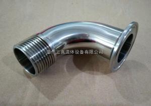 ISO溫州衛生級不銹鋼焊接快裝帶螺紋彎頭