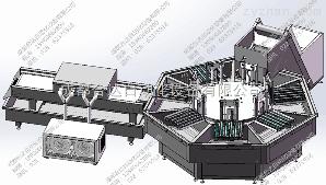 M-088大蜜丸自動化扣殼+蘸蠟設備