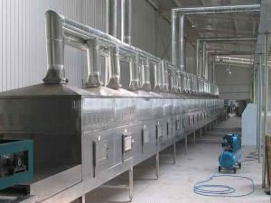 QX-50HM8隧道式山藥片微波干燥設備廠家|山藥片干燥殺菌防霉設備報價