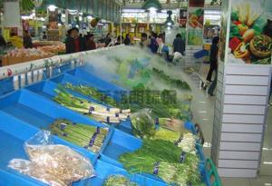 河北农贸批发市场蔬果高压微雾加湿厂家