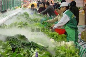晉城農貿批發市場蔬果高壓微霧加濕設備價格