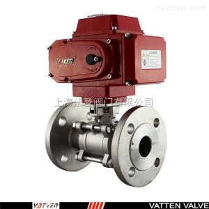 上海电动V型调节球阀 VATTEN德国进口 电动球阀