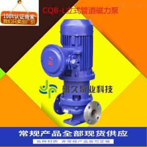 立式管道磁力泵CQG-L立式管道不锈钢磁力泵