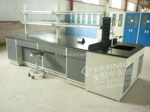 定制重庆实验室家具/实验室操作台/实验室中央操作台/钢木实验台