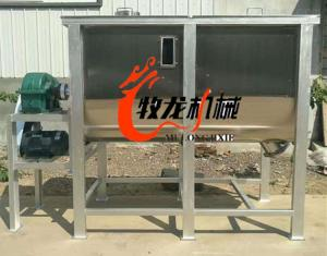 500沈陽牧龍機械臥式不銹鋼攪拌機養殖食用菌蘑菇攪拌機耐腐蝕的攪拌機
