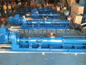 用来输送污泥的高效泵是河北强亨泵业生产的G型不锈钢螺杆泵