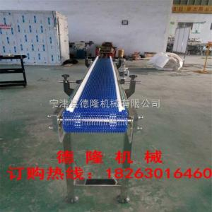 dl-0027蓝色水平网带直线输送机网带爬坡机烘干输送机乙型网带输送机100%满意