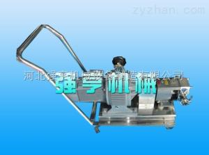 qh河北強亨移動式不銹鋼轉子泵結構簡單造價低