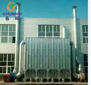 96袋江苏打磨车间木工除尘器+旋风除尘器搭配使用案例
