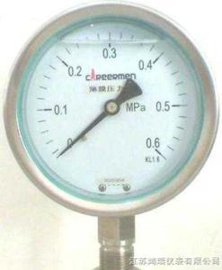HR不锈钢膜盒压力表(1)