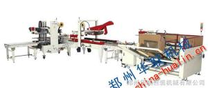 捆扎封箱生產線 河南鄭州捆扎封箱生產線 APL-CS10 捆扎封箱連動線