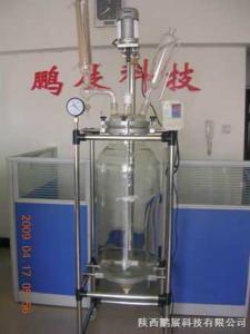 SF-100D鹏展特价销售100L双层玻璃反应釜