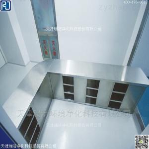 RJ-CG-04不銹鋼雙面鞋柜 隔離翻轉凳