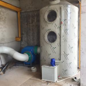 PLT-10000酸堿廢氣凈化塔水噴淋廢氣處理設備