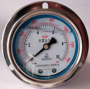 不锈钢壳充油压力表