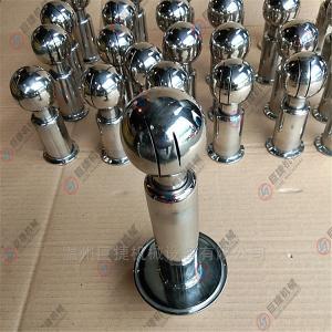 DN25不锈钢清洗球_卫生级双卡式喷淋球