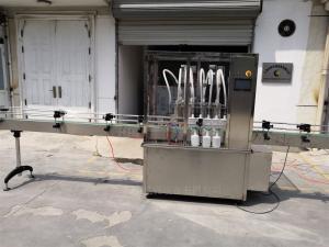 消毒液喷雾瓶灌装生产线 自动灌装旋盖贴标