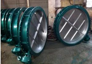 齊全山東煉鋼長500*500電動插板閥安裝運行流程