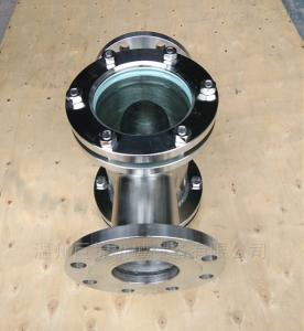 DN125不銹鋼管道法蘭四通視鏡雙面玻璃觀察