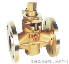 X43W-1.0T二通全銅旋塞閥 二通法蘭全銅旋塞閥