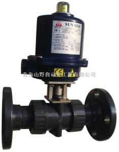 DN50-DN600供应台湾山野电动不锈钢蝶阀