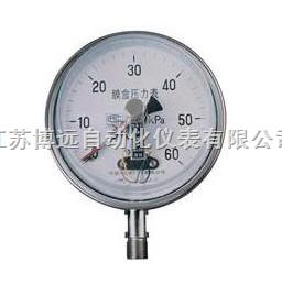 BY-YEX不锈钢膜盒电接点压力表