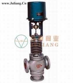电子式电动三通合流、分流调节阀