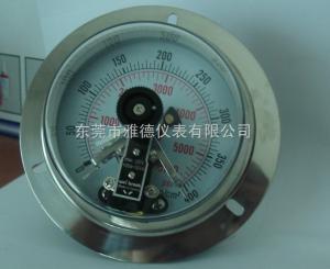 平板硫化機配套用100軸向400KG臺灣款電接點壓力表