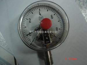 供应100MM径向8BAR全不锈钢电接点压力表