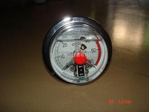 供应100MM轴向全不锈钢充油耐震电接点压力表