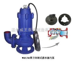 WQK/QG带切割装置潜水排污泵生产厂家,价格,结构图