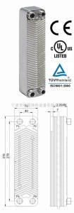 B3-23A供应板式换热器,过水热,冷却器,冷凝器