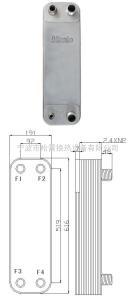 B3-95A供應哈雷釬焊板式換熱器,板式換熱器,過水熱