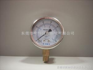 AT63-7MPA/70KG-1/4抗震充油表Y-SON牌径向抗震不锈钢压力表